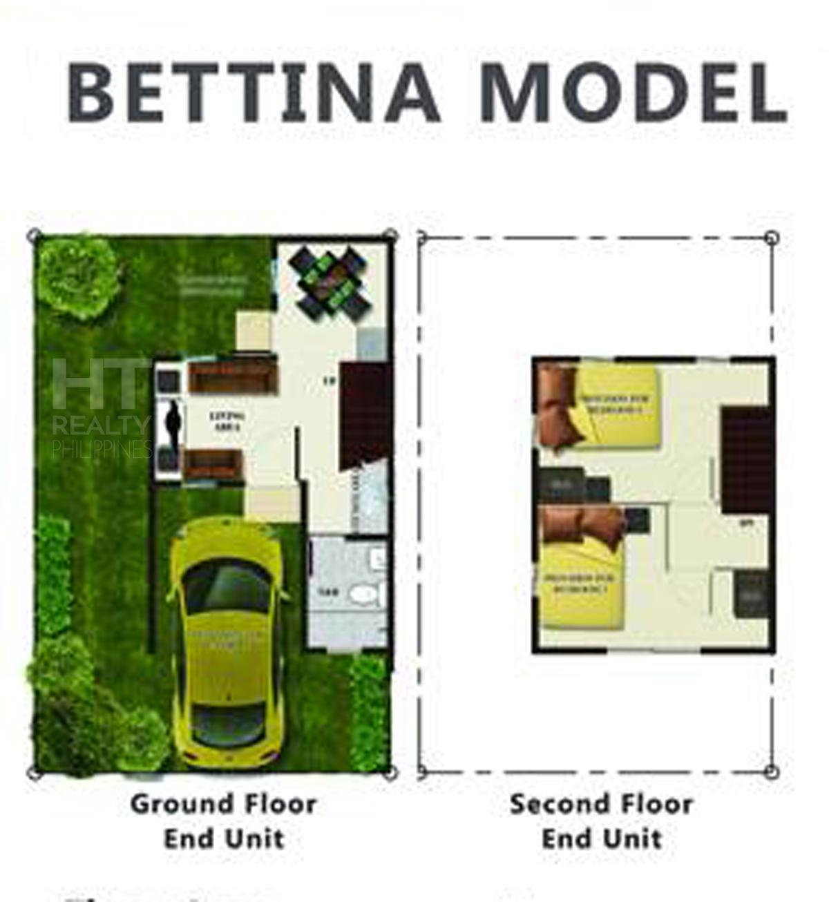 Bettina House Townhouse Bria Homes Davao Ht Realty Philippines